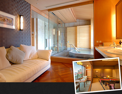A broad range of relaxing rooms with a Japanese ambience