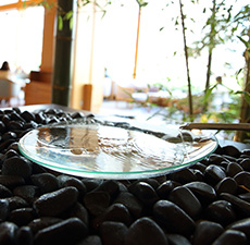 Hear the soothing sound of a mizugoto, a sound ornament that uses water.